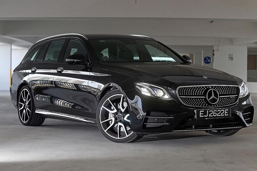 The Mercedes- AMG E43 Estate has an enormous storage capacity of 640 litres and more if you fold the rear seats.