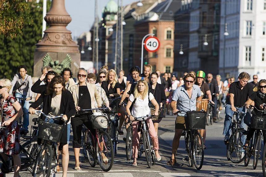 High registration duties for cars have contributed to cycling becoming a popular way to get around in Denmark.