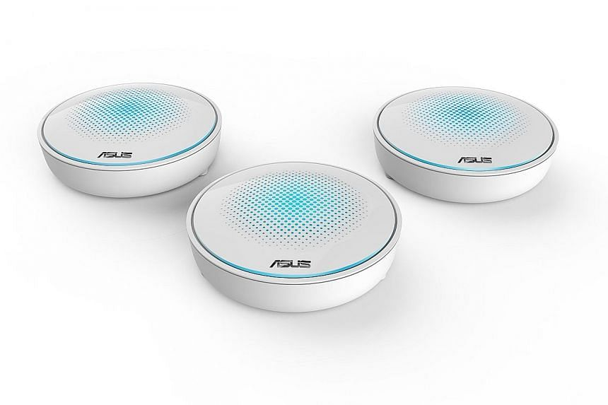 Mesh routers have exploded in popularity this year, with models from major networking firms such as Asus.