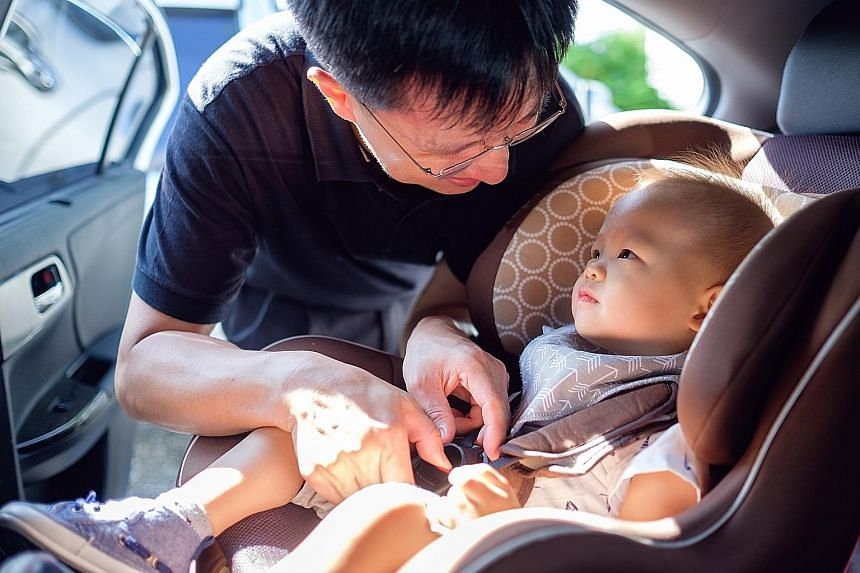 All set to go. When it comes to safety in cars, children here need to be protected to a modern level of acceptability, the writer says, adding that it is our personal responsibility as parents to ensure that every time a child sits in a moving vehicl