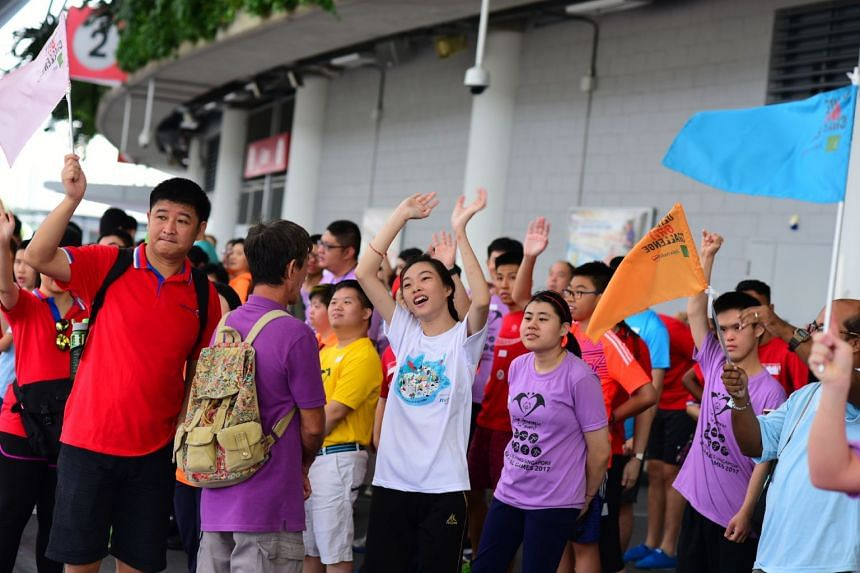 Special Olympics Singapore athletes at the Singapore Sports Hub.