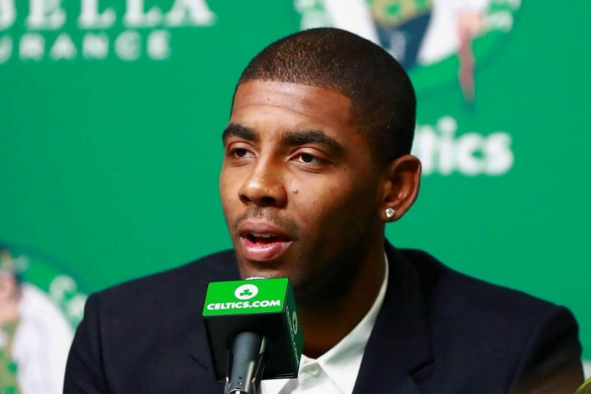 Kyrie Irving said that he hasn't spoken to LeBron James since he joined the Boston Celtics.