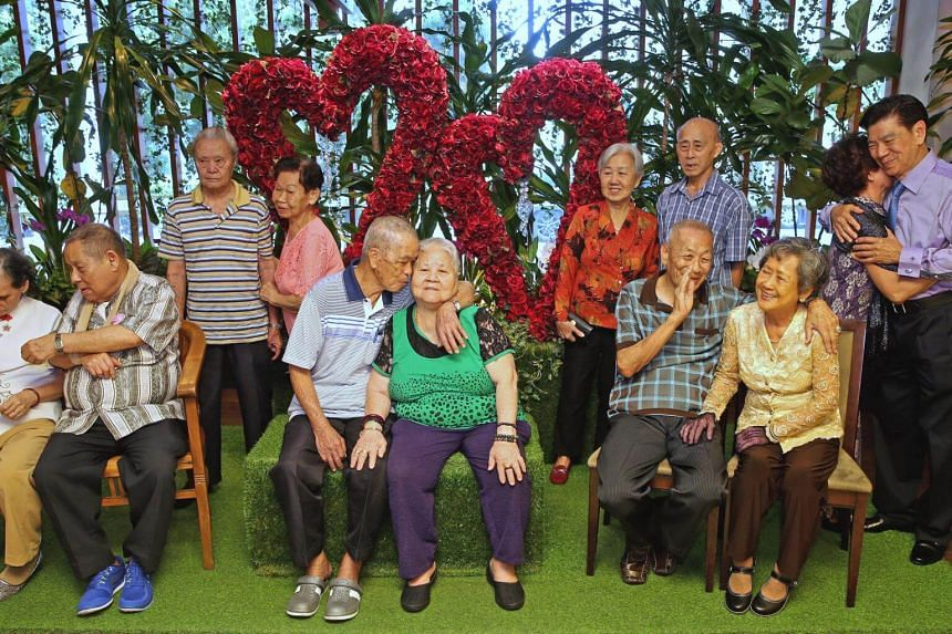 Six elderly couples, married for more than 50 years, renewed their vows at the Registry of Marriages (ROM) on Dec 6, 2016.