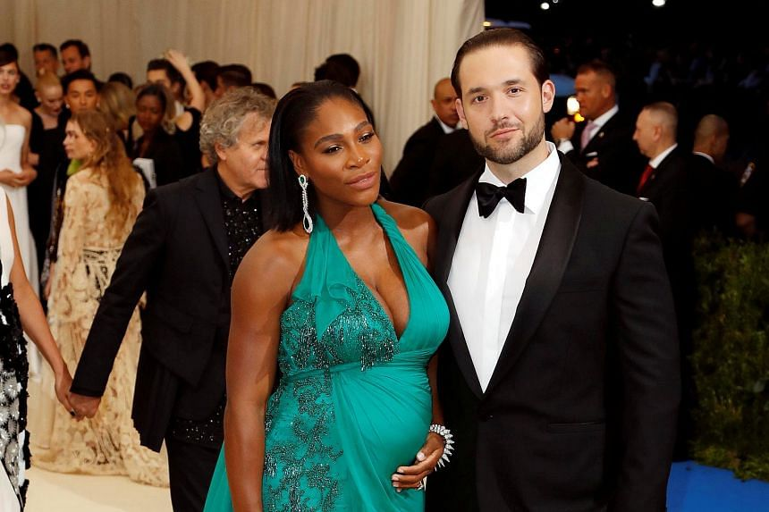 Serena Williams and Alexis Ohanian attending the Metropolitan Museum of Art Costume Institute Gala, on May 1, 2017.