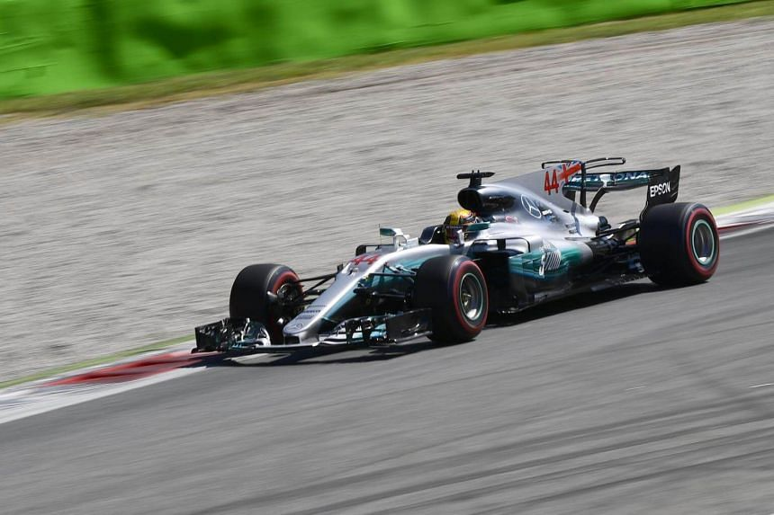 Mercedes' British driver Lewis Hamilton completing a lights-to-flag win at the Italian Formula One Grand Prix at the Autodromo Nazionale circuit in Monza on Sept 3, 2017.