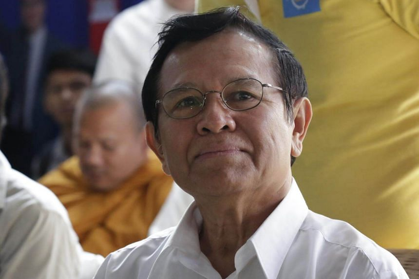 Cambodia National Rescue Party president Kem Sokha at a party congress in Phnom Penh on March 2, 2017.