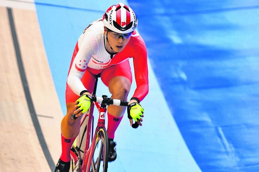Cyclist Calvin Sim allows himself one big dream - that his SEA Games gold medal will eventually lead to a local velodrome.