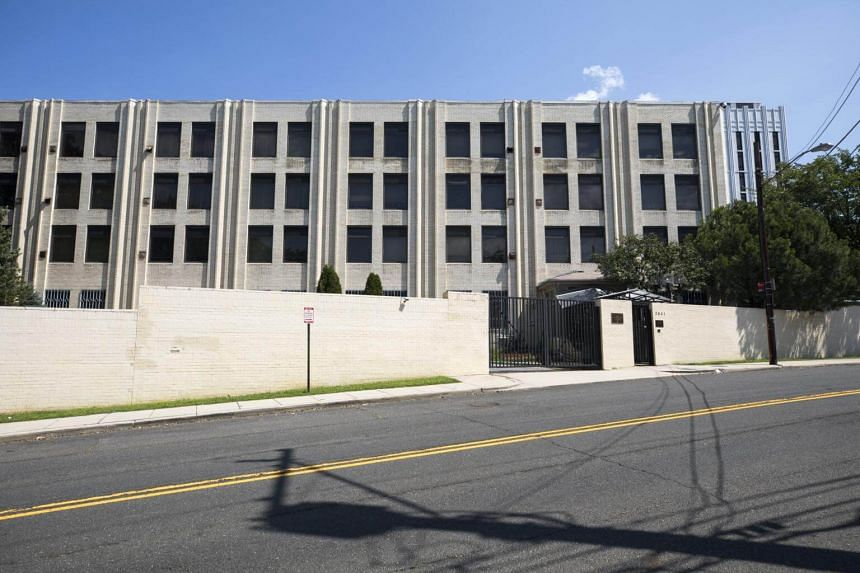 The Russian chancery annex in Washington, DC, one of three Russian diplomatic facilities that the Trump administration has ordered closed in Washington on Aug 31, 2017.