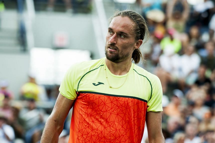 Dolgopolov's (above) achievements have been overshadowed by concerns over suspicious gambling patterns around his 6-3, 6-3 loss last week to 114th-ranked Thiago Monteiro.