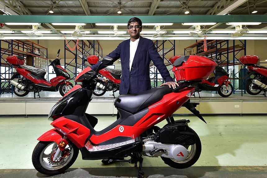 Alife chief Devan Nair with the A Bike when it was released in 2015. He said production stopped early last year due to high rental and labour costs, and a shareholder dispute.