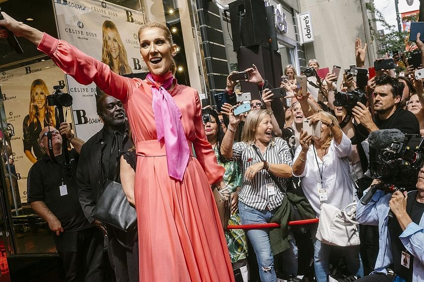 Celine Dion at an event in Montreal to celebrate the introduction of her handbag and accessories line, the Celine Dion Collection, on Aug 23.