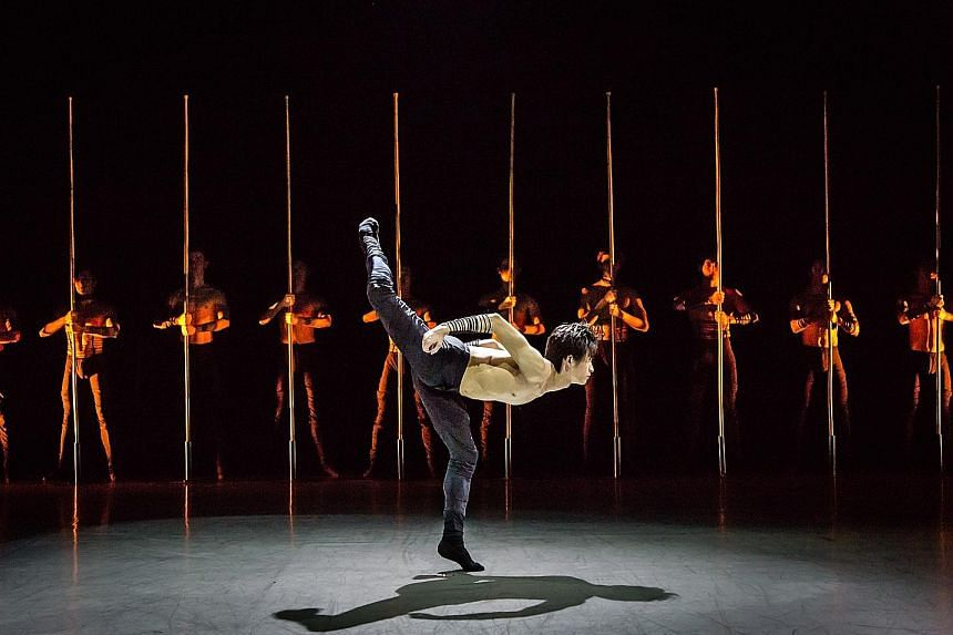 Kinsun Chan's Sticks And Stones, a primal piece, had an all-male cast moving to a score of percussive beats.