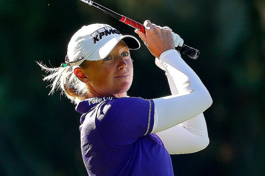 American Stacy Lewis is seeking her first LPGA title since winning the Walmart NW Arkansas Championship in 2014.