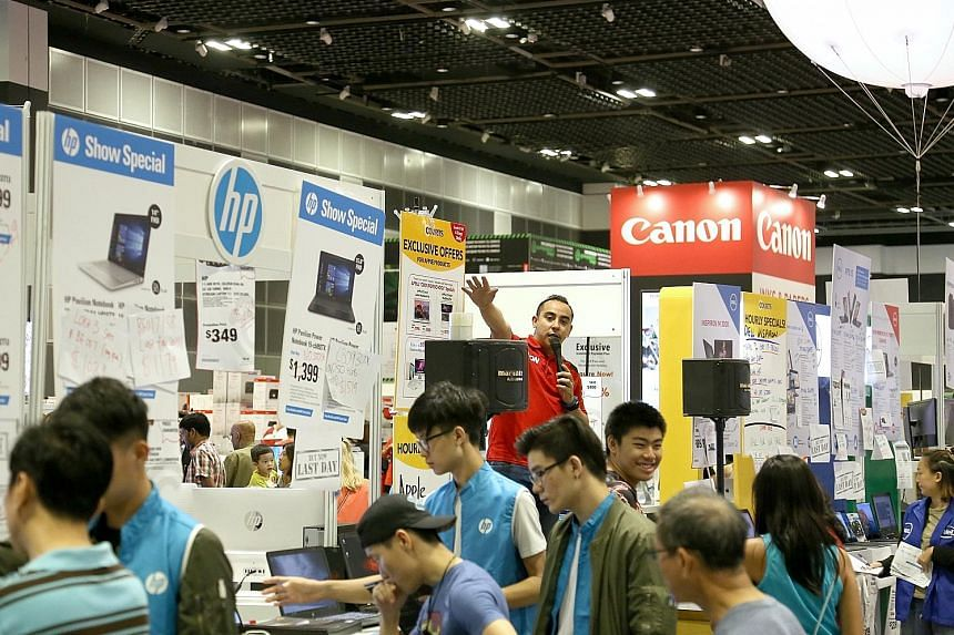 Comex 2017, which was held at the Suntec convention centre, ended yesterday. Exhibitors whom The Straits Times spoke to were bullish about sales at this year's event.