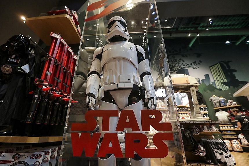 A model Storm Trooper on display at the Walt Disney store in New York last Friday.