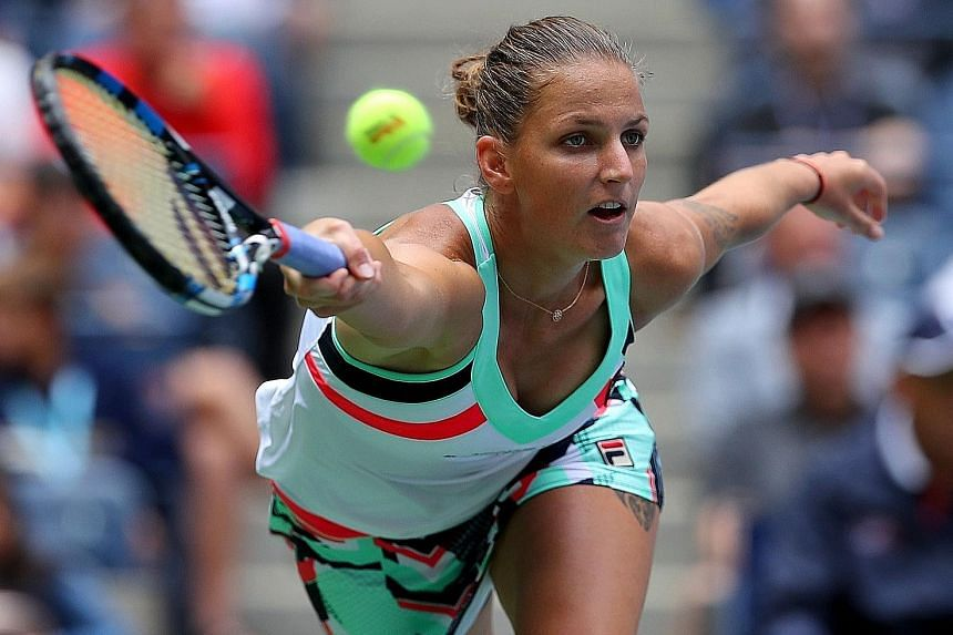 Karolina Pliskova, runner-up last year, narrowly averted the prospect of a crushing third-round defeat by Zhang Shuai, eventually winning 3-6, 7-5, 6-4 on Saturday.