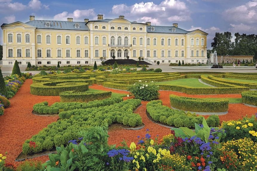 The gardens at Rundale Palace, about 80km south of Riga.