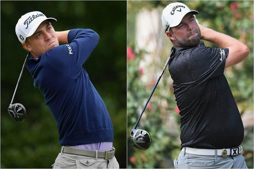 Justin Thomas (left) and Marc Leishman surged into the third-round lead with impressive performances at the Dell Technologies Championship.