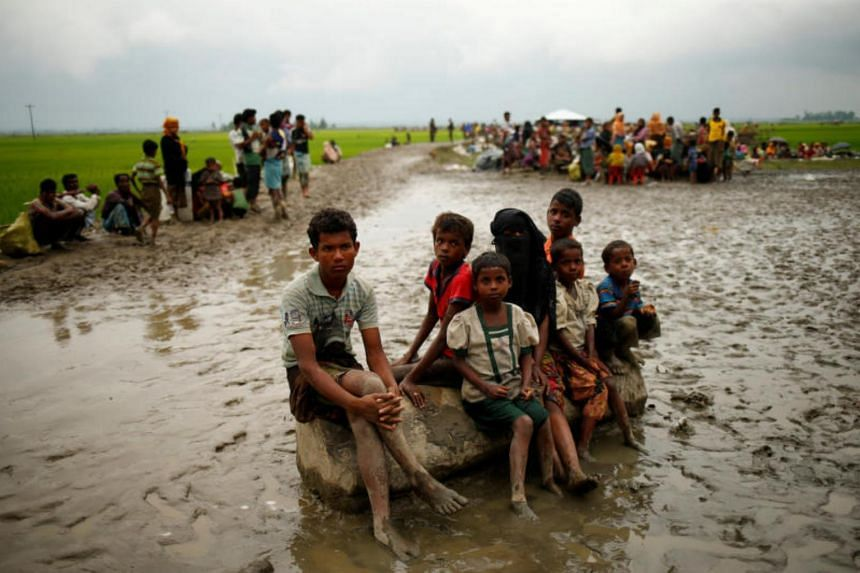 Rohingya refugees in Teknaf, Bangladesh, on Sept 3, 2017.