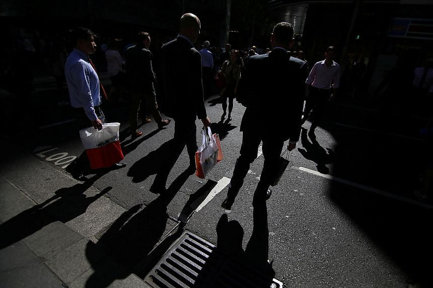 Wages and salaries at Australian companies rose by A$1.6 billion (S$1.7 billion) in the three months to June, a promising boost to consumer spending power. Household consumption accounts for about 57 per cent of Australia's gross domestic product, so