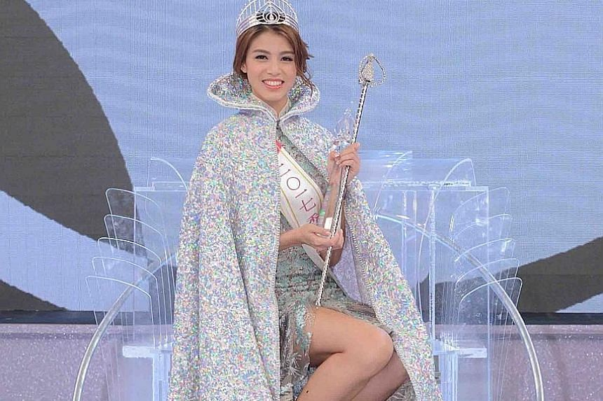 Actress Juliette Louie won the Miss Hong Kong title after TVB host Carol Cheng cast two deciding votes for her.