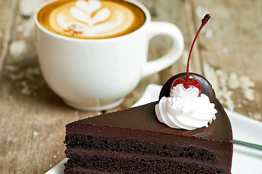 Research shows that drinking a caffeinated cup of coffee has a blocking effect on our ability to taste sweet flavours, making us crave more sugar and seek out higher- calorie treats.