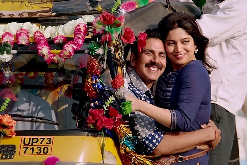 Akshay Kumar and Bhumi Pednekar star in Toilet, A Love Story, based on a real-life tale of one man's battle to build toilets in his village in rural India.