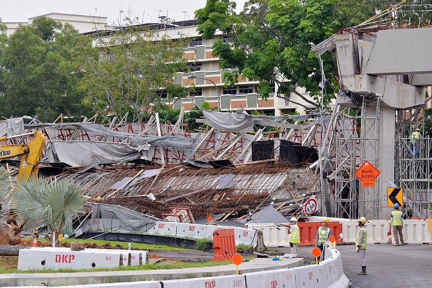 SAFETY FIRST: The recent partial collapse of a road viaduct that was being constructed near Upper Changi Road East is a painful reminder that accidents do happen and safety must be taken seriously by all. - LAND TRANSPORT AUTHORITY CHAIRMAN ALAN CHAN
