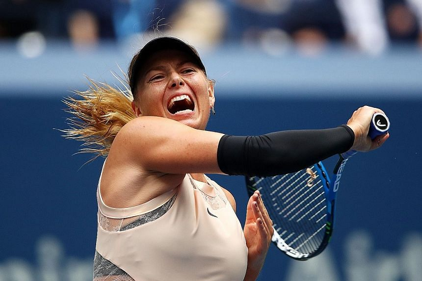 It is all glitz and glamour in Maria Sharapova's return to tennis in a fairly successful US Open comeback, as sports giant Nike stood by her after initially suspending ties.