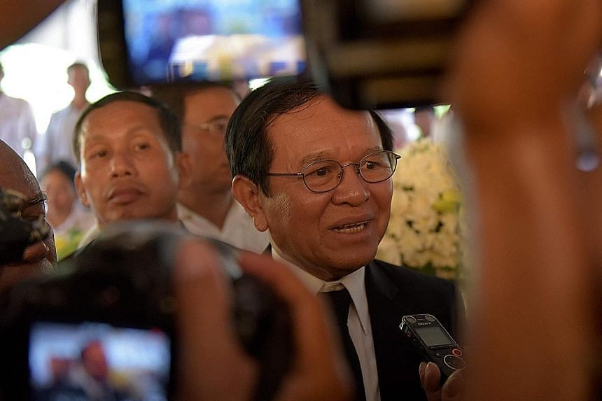 Cambodian opposition leader Kem Sokha, accused of plotting with US support, was arrested in a raid on his home on Sunday.