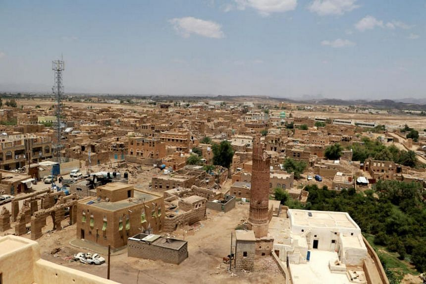 A view of the old quarter of the war-torn northwestern city of Saada, Yemen Sep 3, 2017.