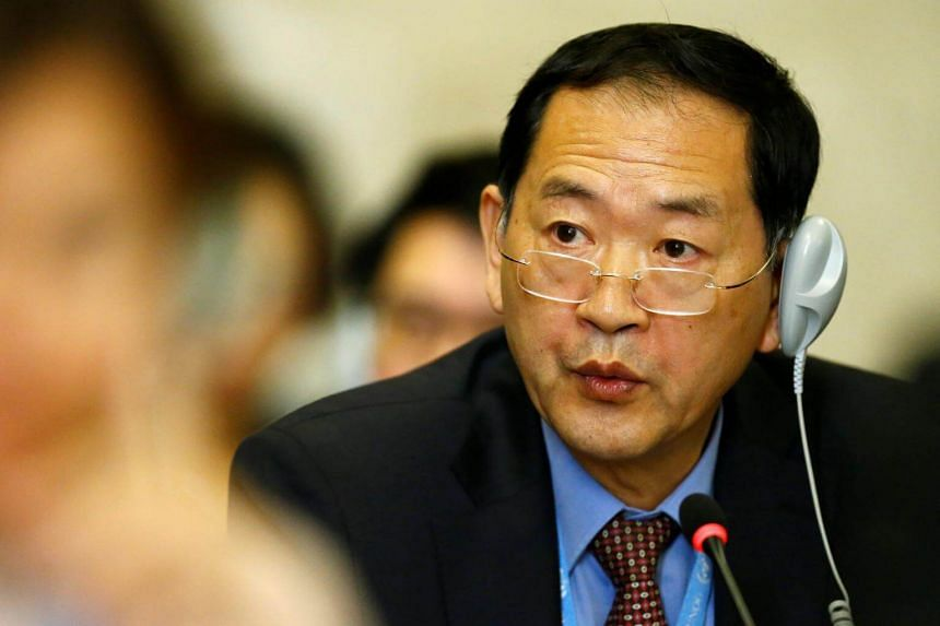 Mr Han Tae Song, ambassador of the Democratic People's Republic of Korea to the United Nations in Geneva, was addressing the UN-sponsored Conference on Disarmament two days after his country detonated its sixth nuclear test explosion.