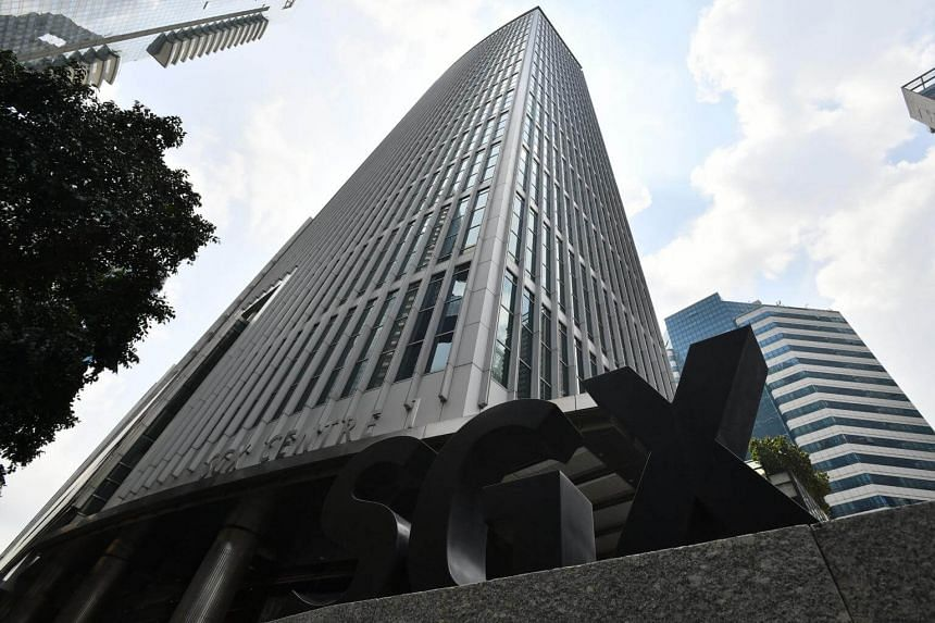 A view of Singapore Exchange building (SGX) at the financial district in Singapore.