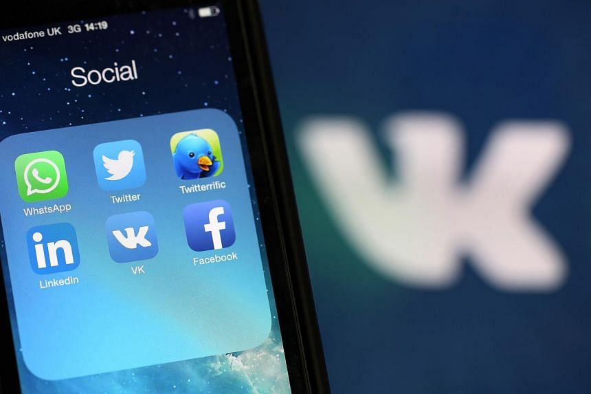 Social media apps seen on an iPhone 5 smartphone.