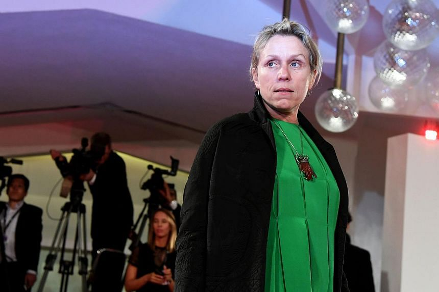 Actress Frances McDormand attending the premiere of the movie Three Billboards Outside Ebbing, Missouri presented in competition at the 74th Venice Film Festival, on Sept 4, 2017.