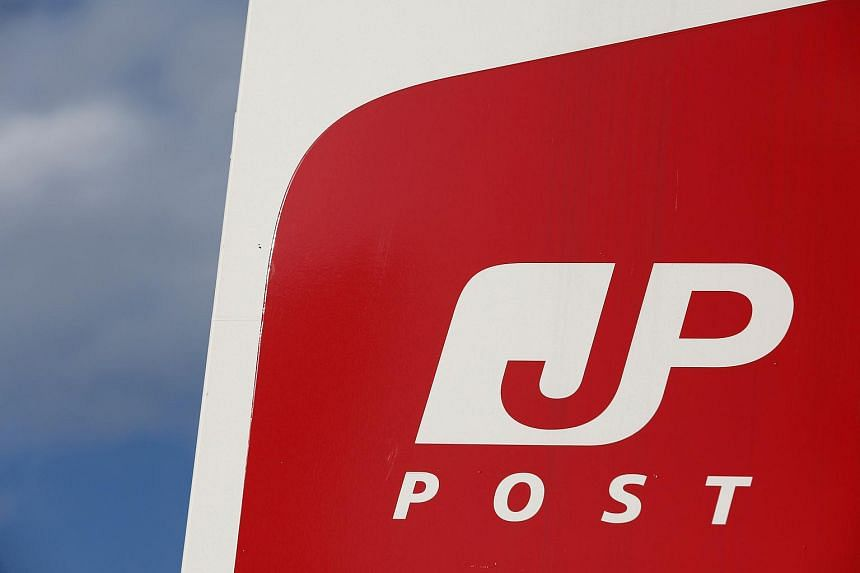 Japan Post's logo is seen at its headquarters in Tokyo, on Jan 30, 2017.