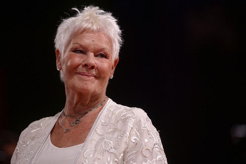 Actress Judi Dench at the 74th Venice Film Festival on Sept 3, 2017 at Venice Lido.