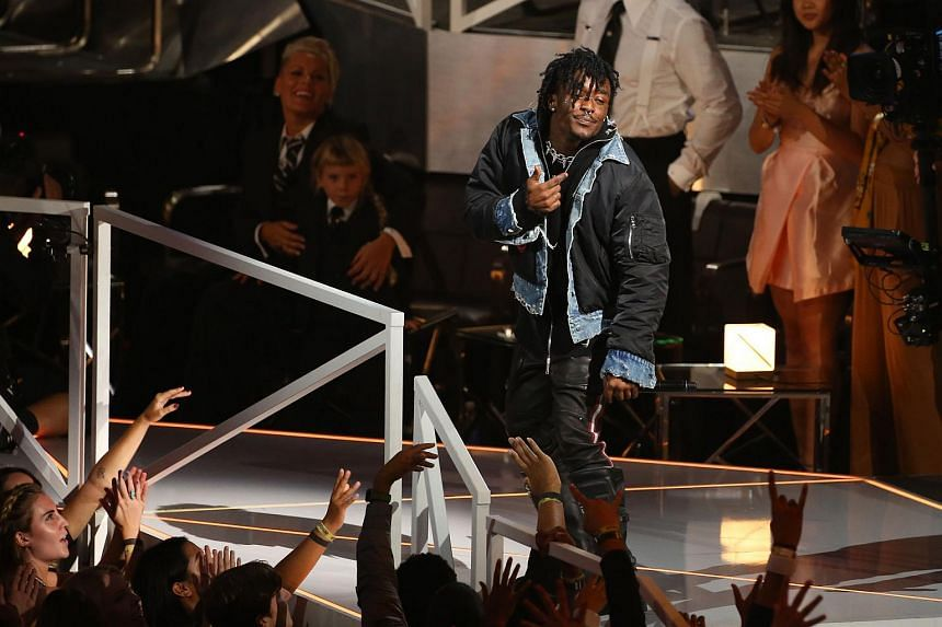 Lil Uzi Vert performs during the MTV Video Music Awards 2017 on Aug 27, 2017.