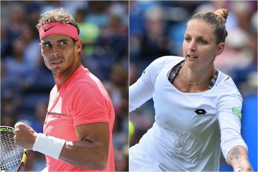Rafael Nadal (left) and Kristina Pliskova. Nadal notched up his 50th win at the US Open on Monday. Pliskova will next face either 37th-ranked compatriot Lucie Safarova or US 20th seed CoCo Vandeweghe for a place in the semi-finals.