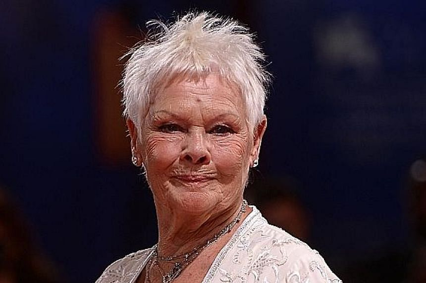 Judi Dench plays the queen in Victoria & Abdul, which premiered at the film festival.