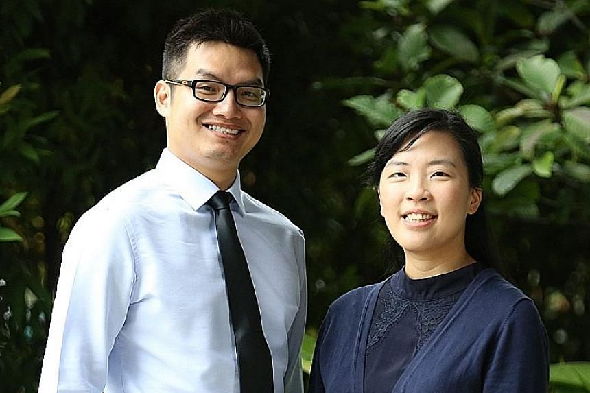 Mr Joseph Chua, 27, and Dr Lee Yi Yong, 34, were among the recipients yesterday. Some got the new award, while others received AIC's previous community care scholarships.