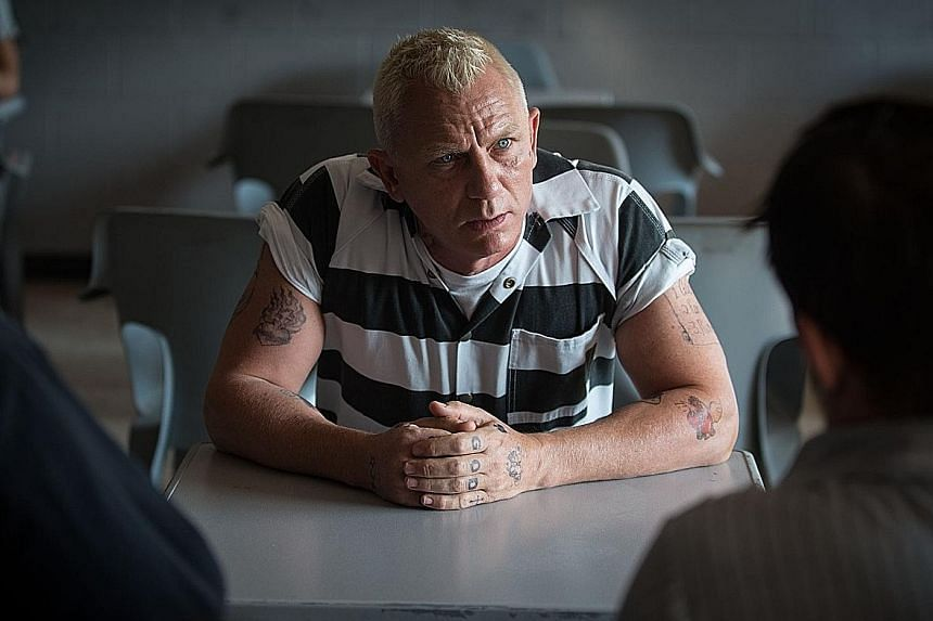 Adam Driver (with Channing Tatum) plays a military veteran in Logan Lucky, while Daniel Craig (above) stars as a slightly crazed criminal.