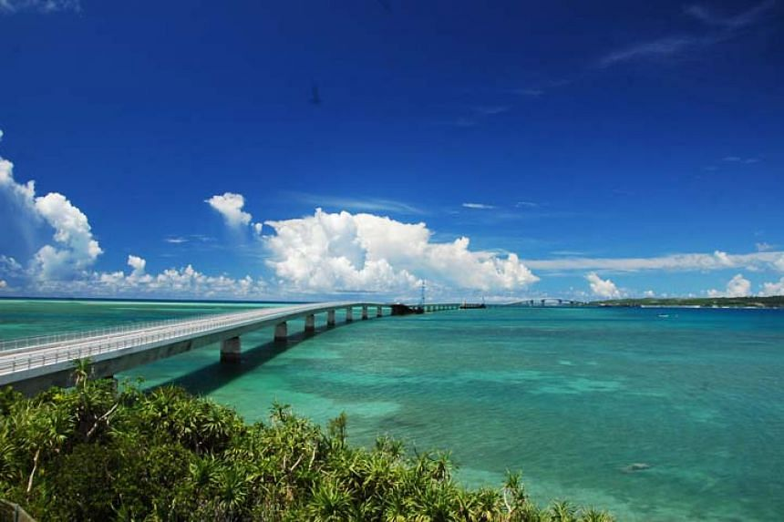 Okinawa's famed Irabu Bridge, which opened in 2015 and is the longest toll-free bridge in Japan.