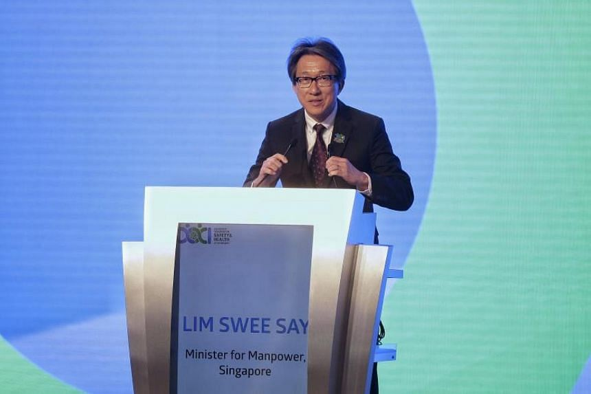 Manpower Minister Lim Swee Say  also expressed the hope that many countries will steadily reduce fatality rates from work accidents over the next decade.