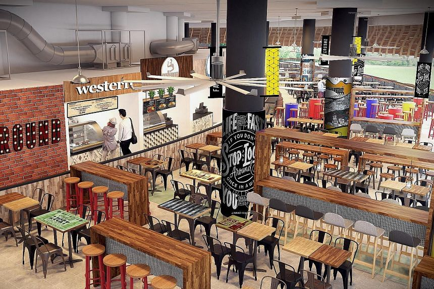 Artist's impression of the upcoming Pasir Ris Central Hawker Centre.