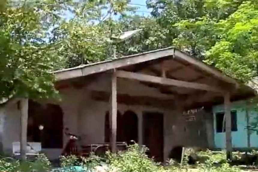 The house in Phang Nga province where the victim was staying, which now stands empty after the family was relocated over fears for their safety.