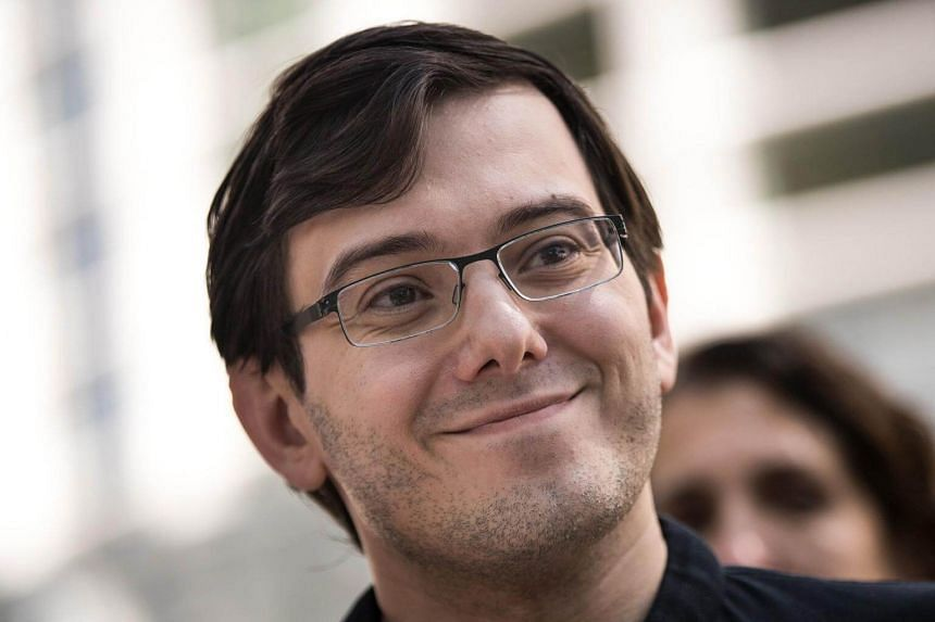 Former pharmaceutical executive Martin Shkreli speaks to the press after the jury issued a verdict in his case at the US District Court for the Eastern District of New York on Aug 4, 2017.