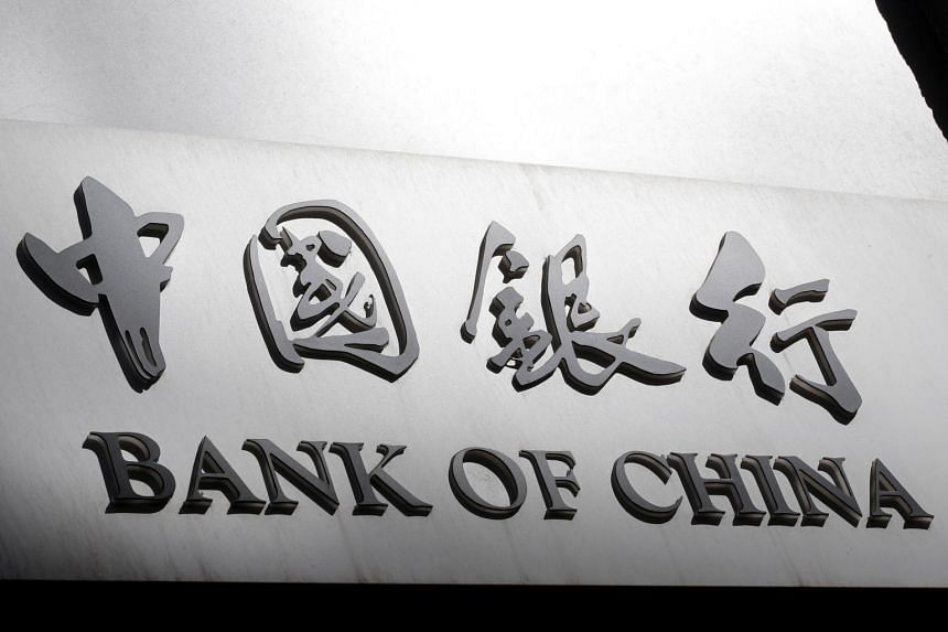 A sign of the Bank of China is seen in Rome, Italy, on April 11, 2016.