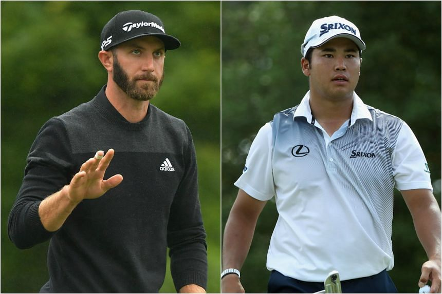 Dustin Johnson (left) and Hideki Matsuyama will spearhead the United States and International team lineups at the Presidents Cup.