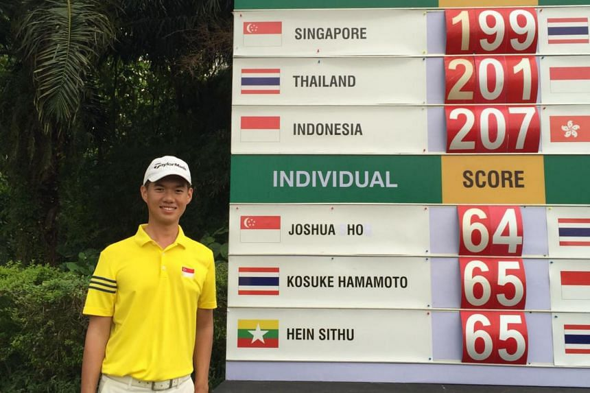 Joshua Ho at the Putra Cup 2017 after round one.